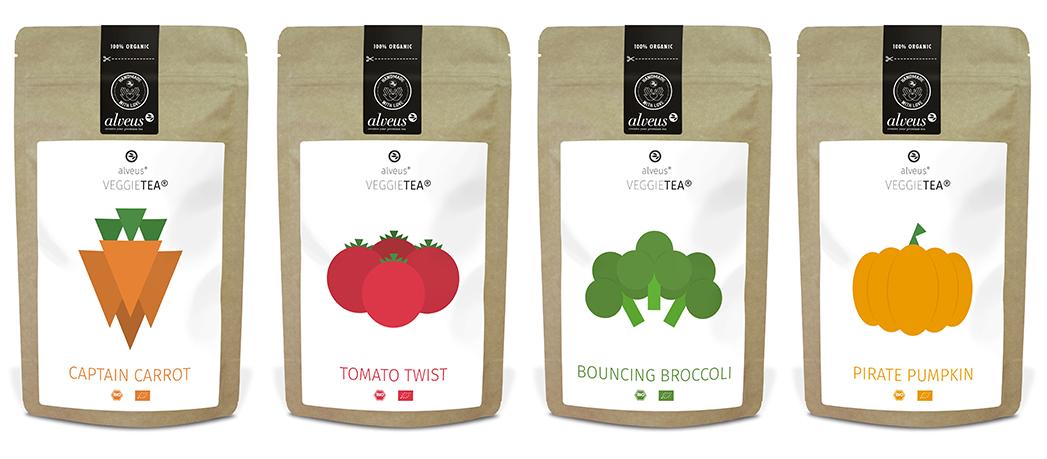 VeggieTea BIO Gemüse-Tee-Mischungen. Die vielseitig verwendbare Gemüse-Kräuter-Mischung in der 100g Tüte, VeggieTea BIO von alveus®