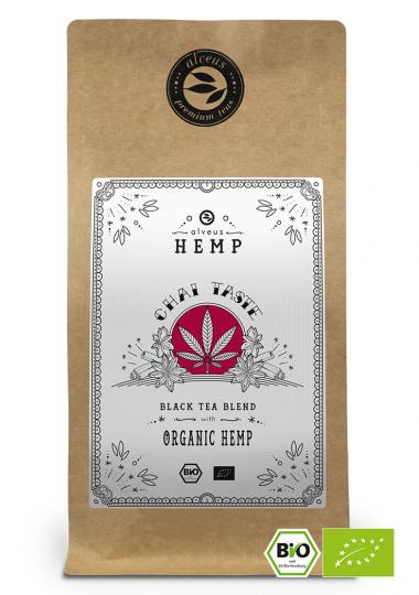 Chai Taste Hemp BIO Hanf Tee in der 100g Tüte von alveus® bei tee-design.eu im Online-Shop kaufen.