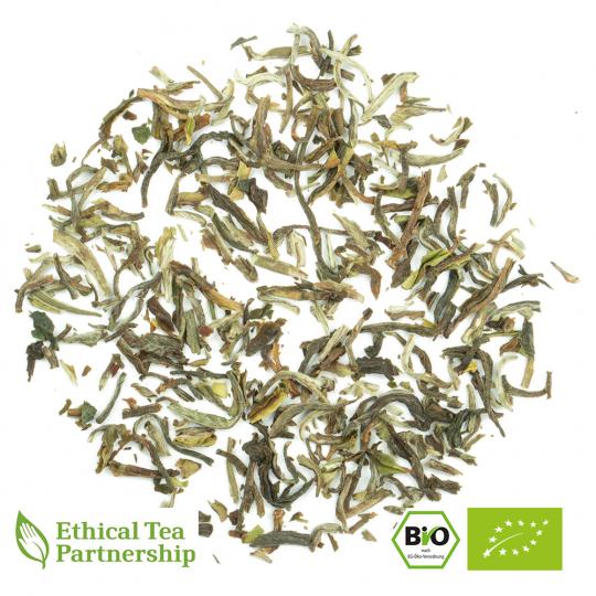 Oolong Tee NEPAL 1ST FLUSH JUN CHIYABARI (HIMALAYAN FORBIDDEN KINGDOM) ORGANIC BIO von alveus® Rarities bei tee-design.eu im Online-Shop kaufen.