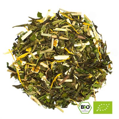 Grüner Tee Mischung Orange Taste Hemp BIO Hanf Tee mit Orangen Geschmack von alveus® bei tee-design.eu.