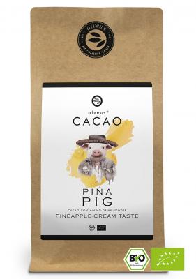 Kakao Getränk Cacao Piña Pig BIO in der 125g Tüte von alveus® bei tee-design.eu im Online-Shop kaufen.