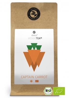 VeggieTea Captain Carrot BIO Gemüse Tee in der 100g Tüte von alveus® bei tee-design.eu im Online-Shop kaufen.