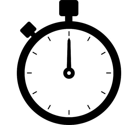 Zieh-Zeit 0,25 min.